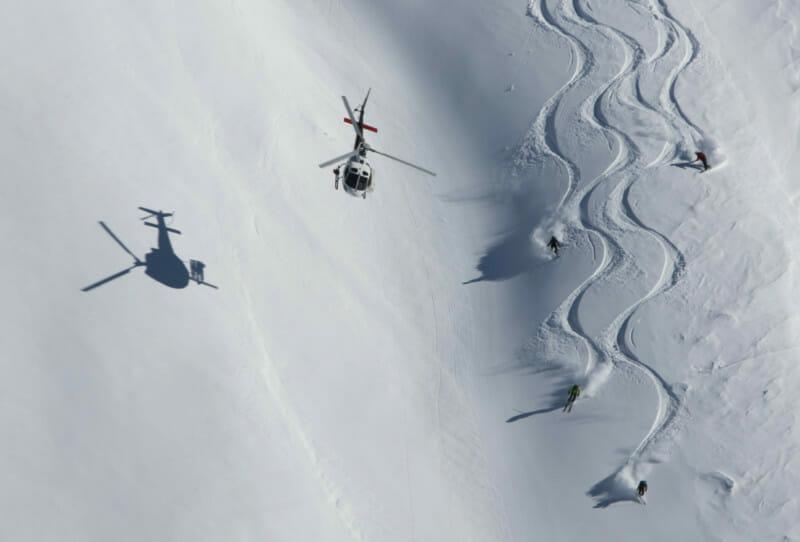 Heli-skiing- powder skiing- Turkey, Heli skiing