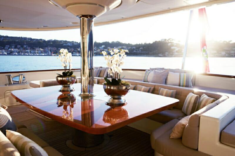 M/Y Nassima-exterior seating-Mediterranean -