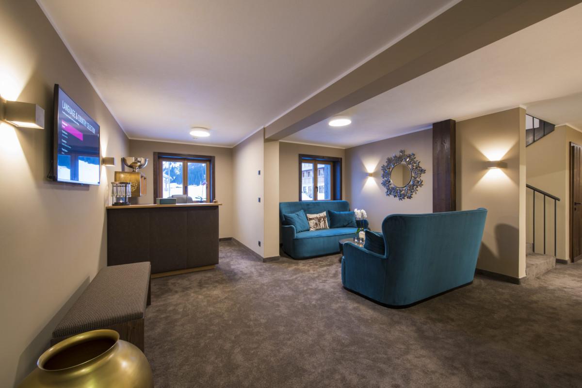 The reception area of Balegia Resort and Apartment Balegia in Lech