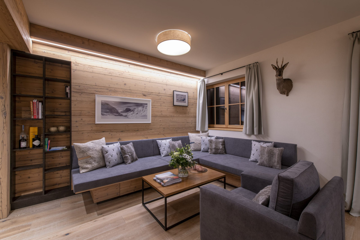 Lounge relaxation area at Apartment Brunnenhof 1 in Lech