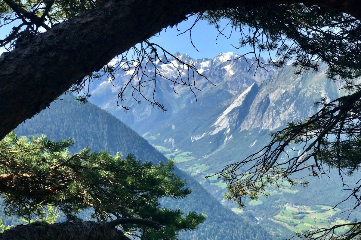 Verbier views in summer looking to Val Ferret