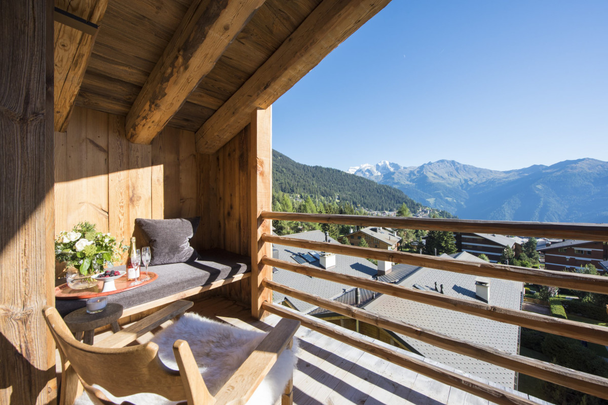 Master suite balcony at Chalet Aline in Verbier