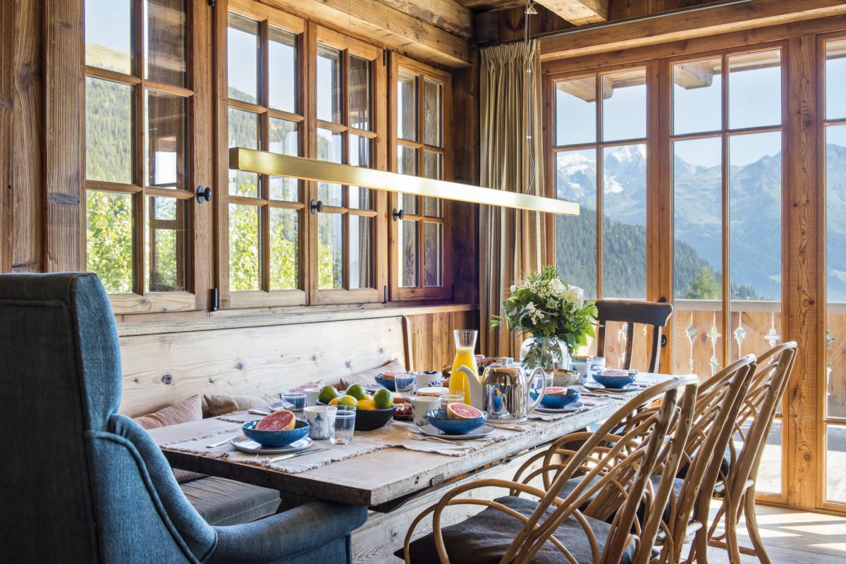 Breakfast views at Chalet Aline in Verbier