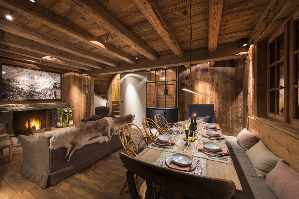 Lounge dining areas at Chalet Aline in Verbier