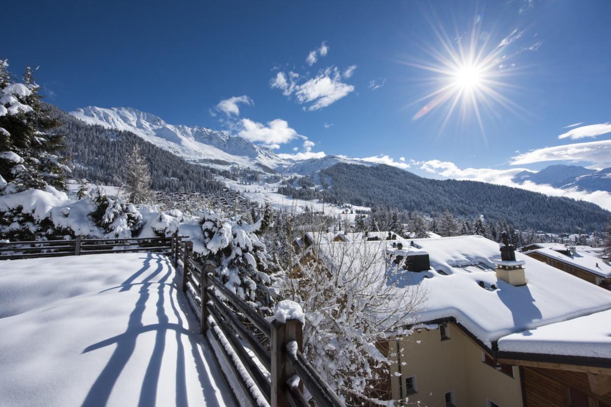 Mountain views in winter at Chalet Aline in Verbier