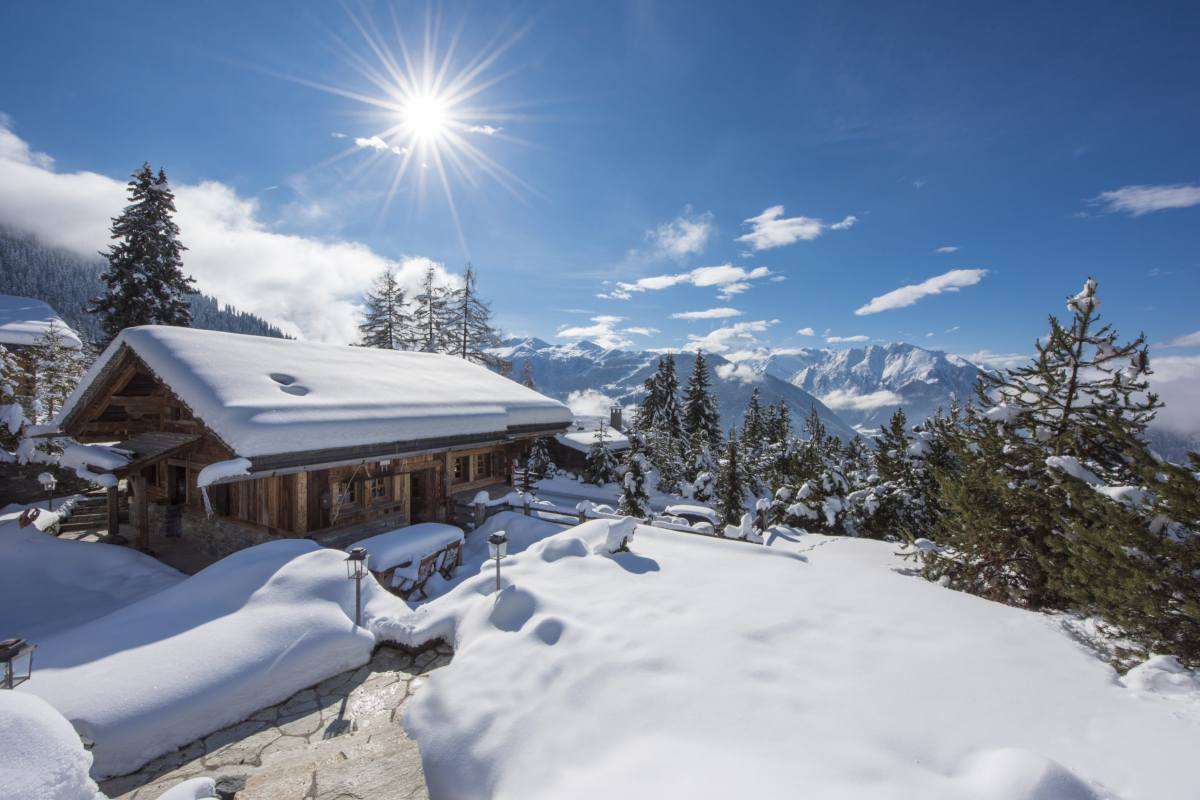 Exterior of Chalet Le Ti which is part of Bella Coola Estate in Verbier