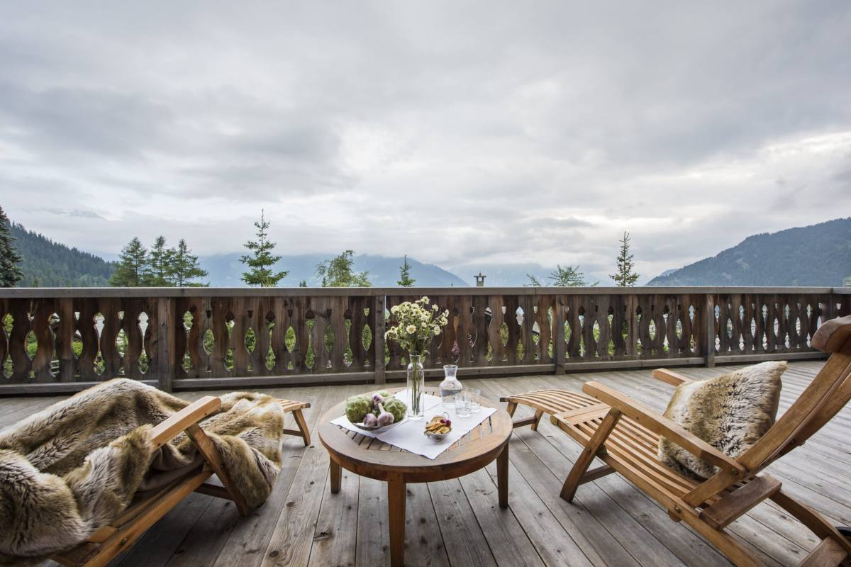 Mountain views from Bella Coola Estate in Verbier