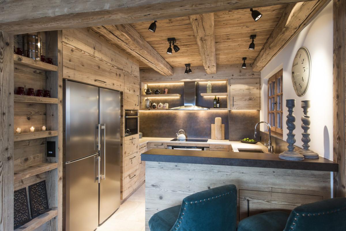 Kitchen at Chalet Bioley in Verbier
