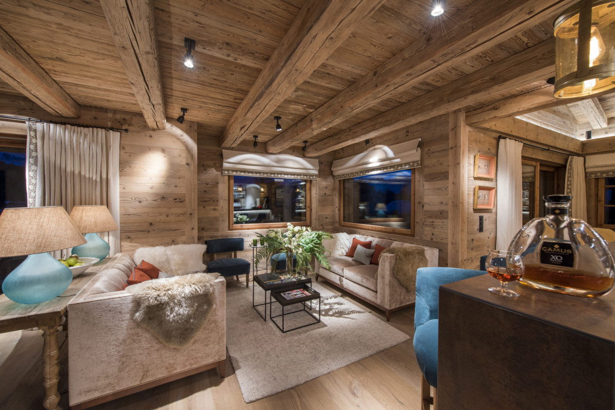 Lounge area at Chalet Bioley in Verbier