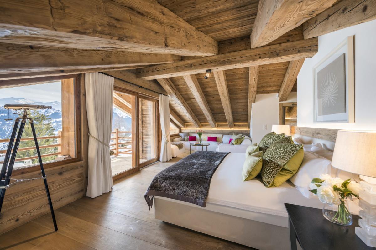 Master suite at Chalet Bioley in Verbier