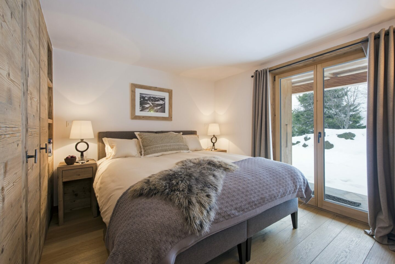 Double bedroom at Chalet Delormes in Verbier
