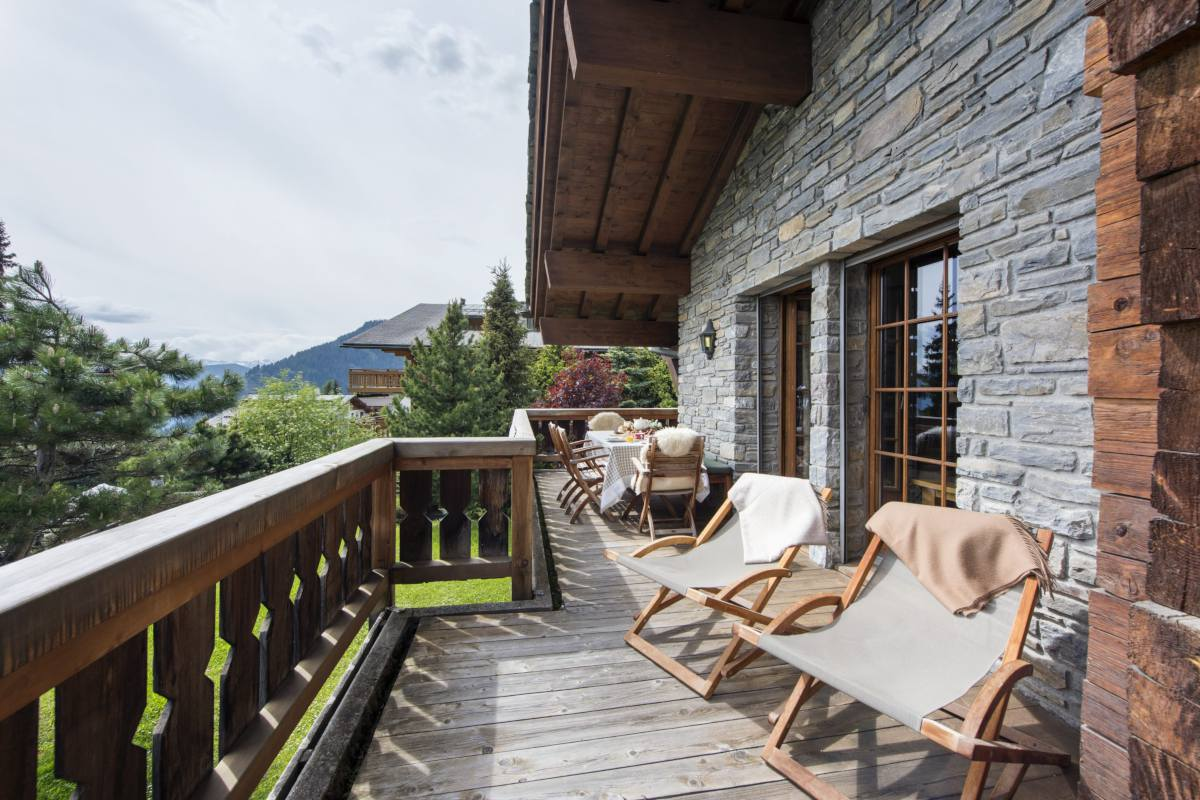 Balcony at Apartment Ivouette in Verbier