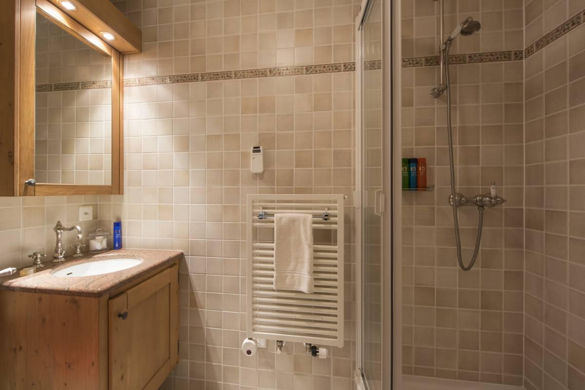 Ground floor en suite shower room at Apartment Ivouette in Verbier