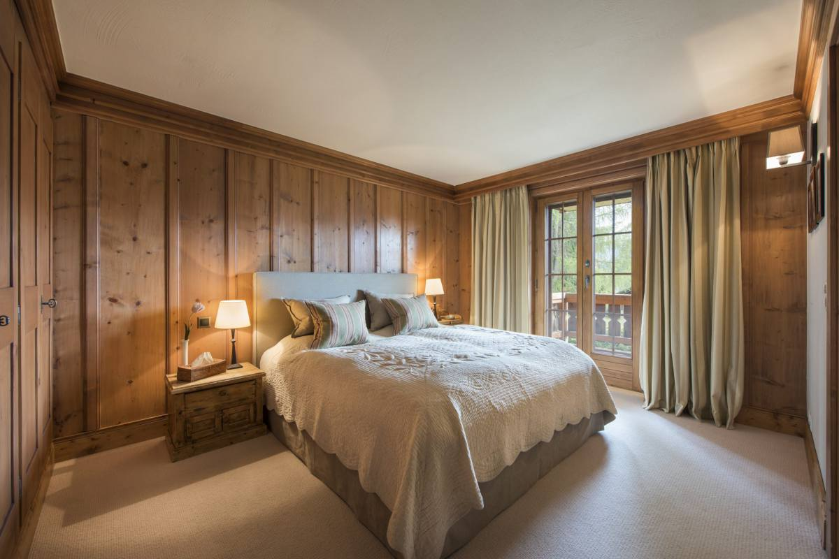 Master bedroom at Apartment Ivouette in Verbier