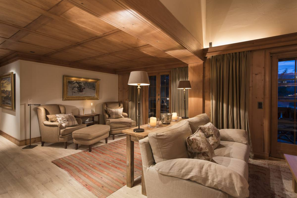 Sitting area at Apartment Ivouette in Verbier