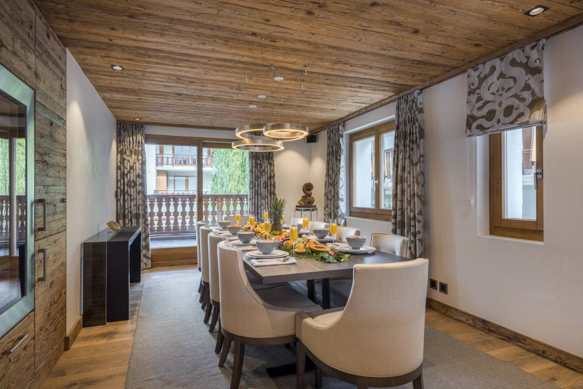 Dining area at Chalet La Datcha in Verbier
