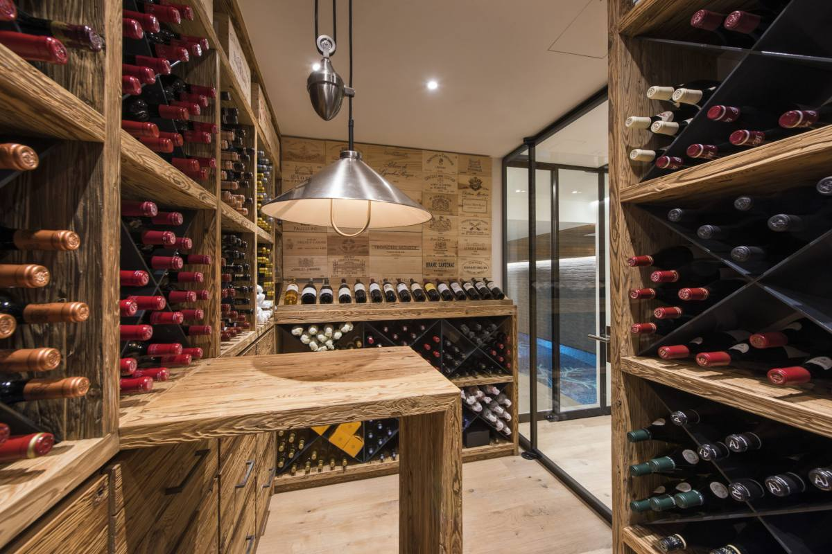 Wine cellar at Chalet La Vigne in Verbier