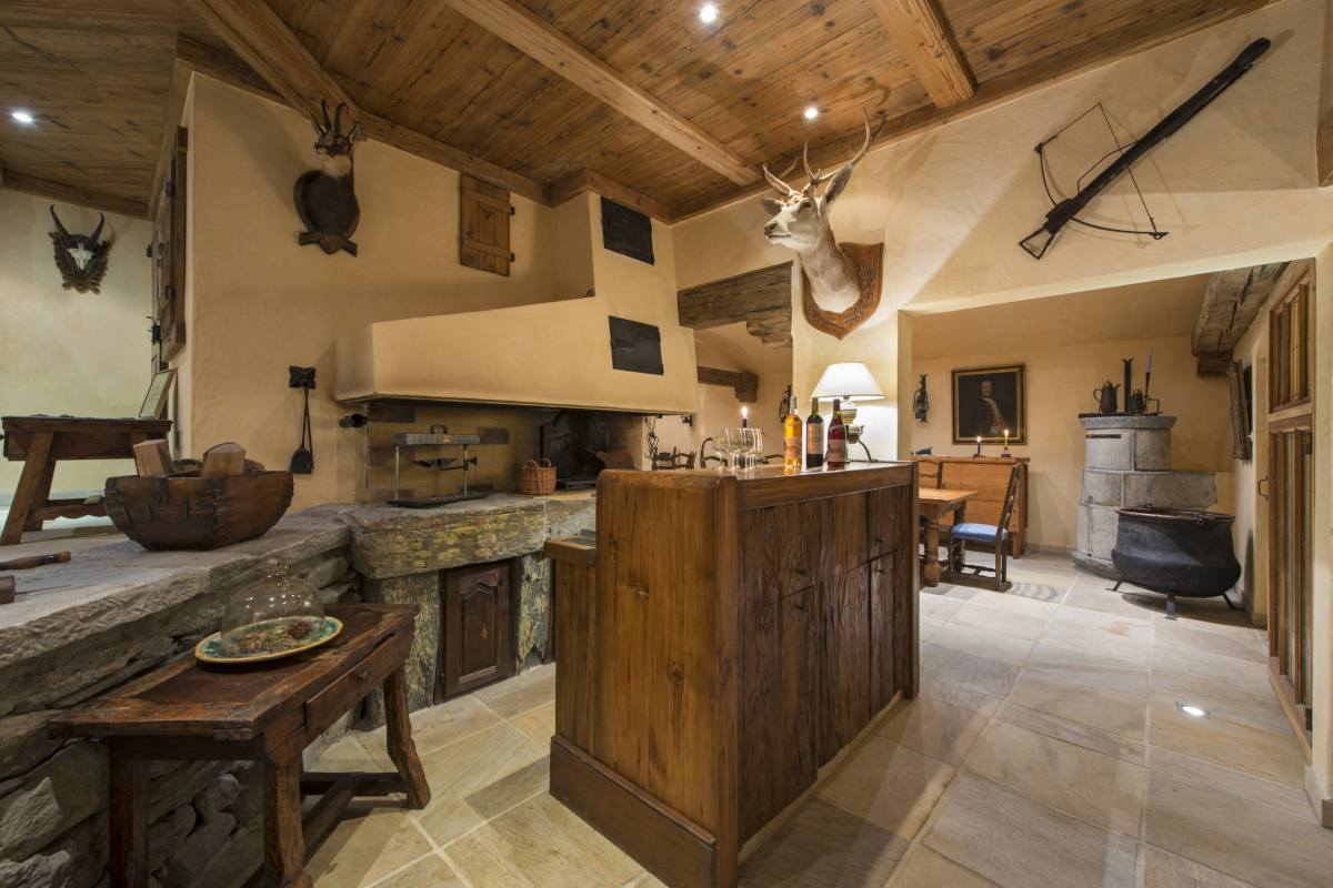 Spa kitchen at Chalet Makini in Verbier