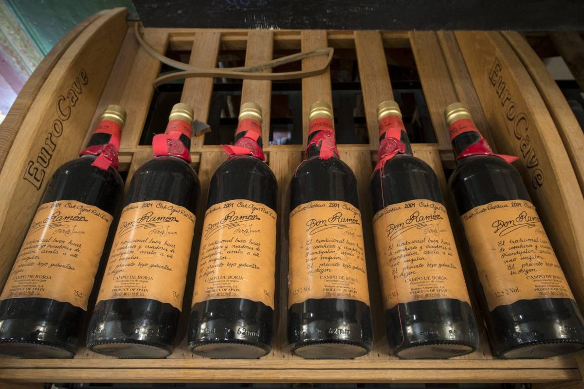 Vintage wines at Chalet Makini in Verbier