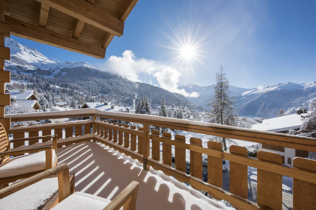 Furnished balcony on second floor at No. 14 Verbier