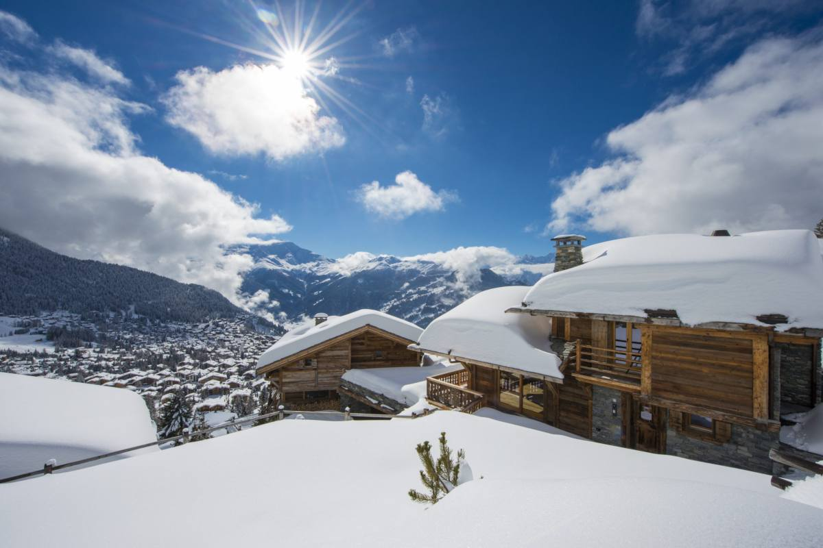 Exterior and views from Chalet Sirocco in Verbier