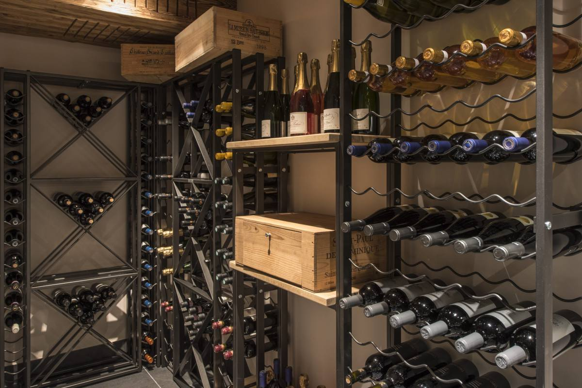 Wine cellar at Chalet Sirocco in Verbier