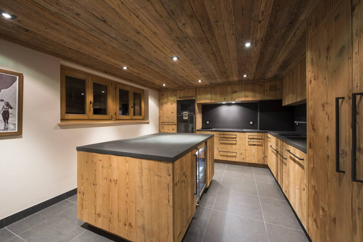 Stylish kitchen in Chalet Sirocco at The Alpine Estate in Verbier