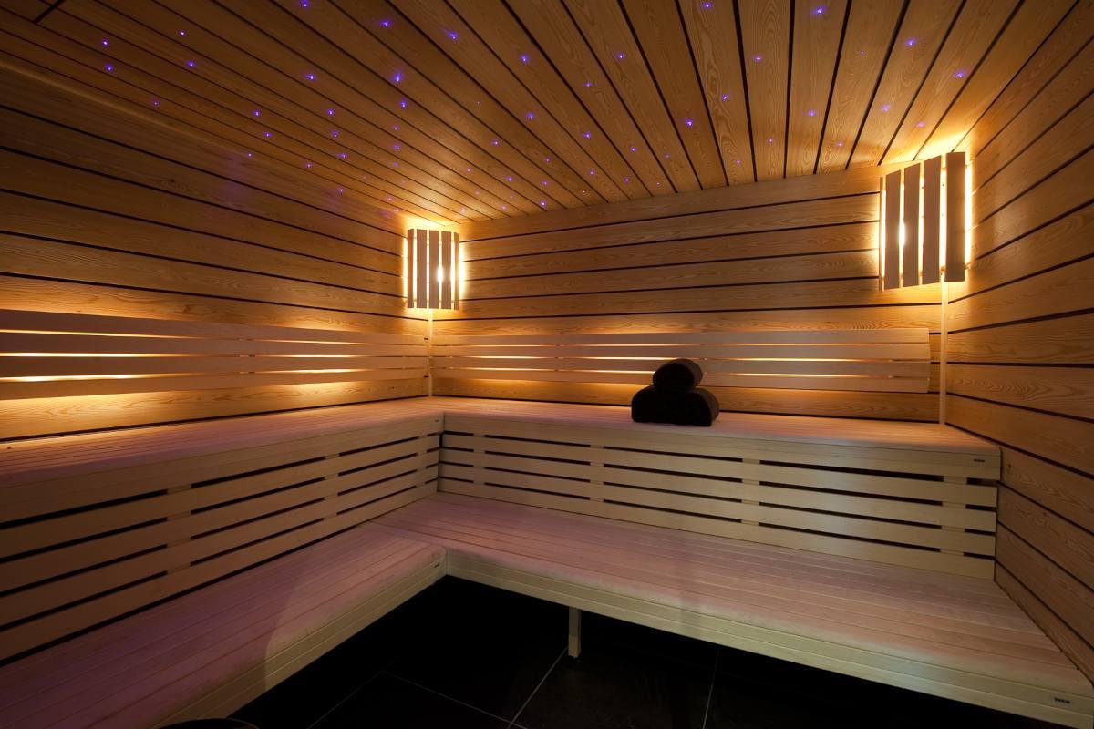 Sauna in Chalet Norte at The Alpine Estate in Verbier