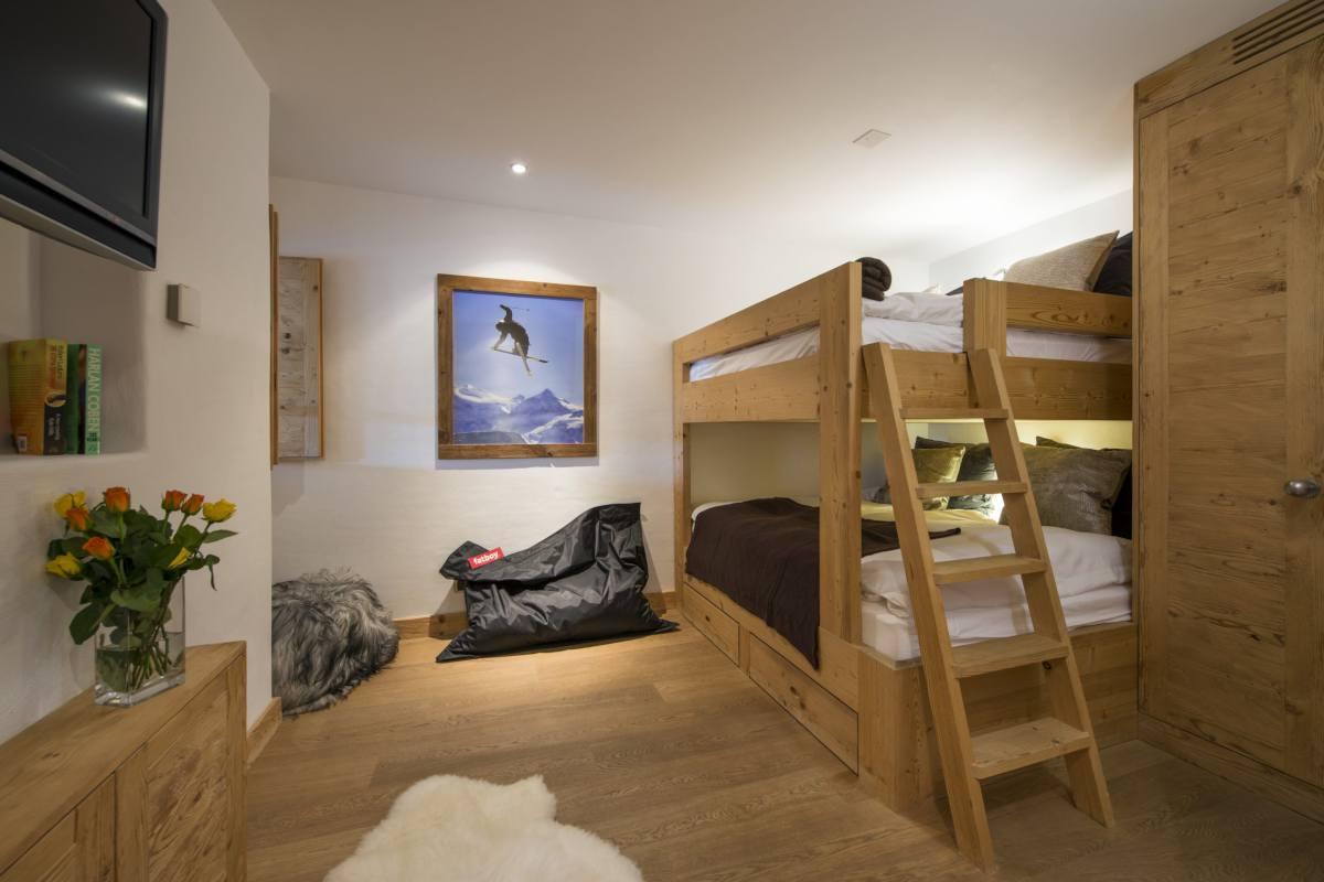 Bunk room at Apartment Victoria 111 in Verbier