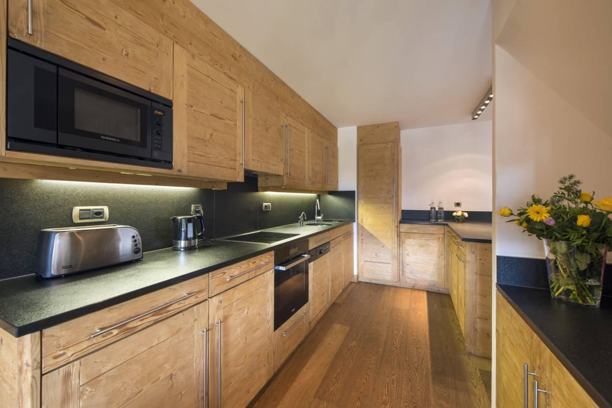 Modern kitchen at Apartment Victoria 111 in Verbier