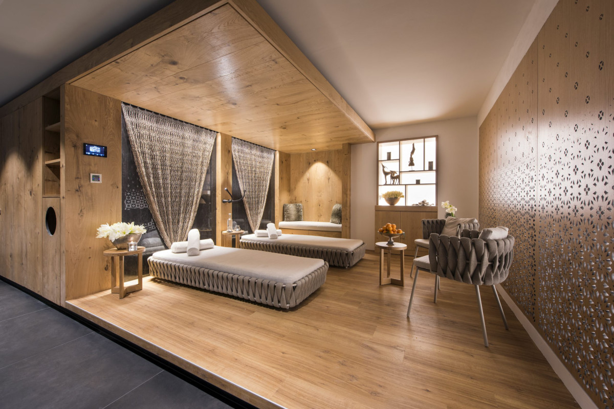 Spa and massage space at Chalet Aconcagua in Zermatt