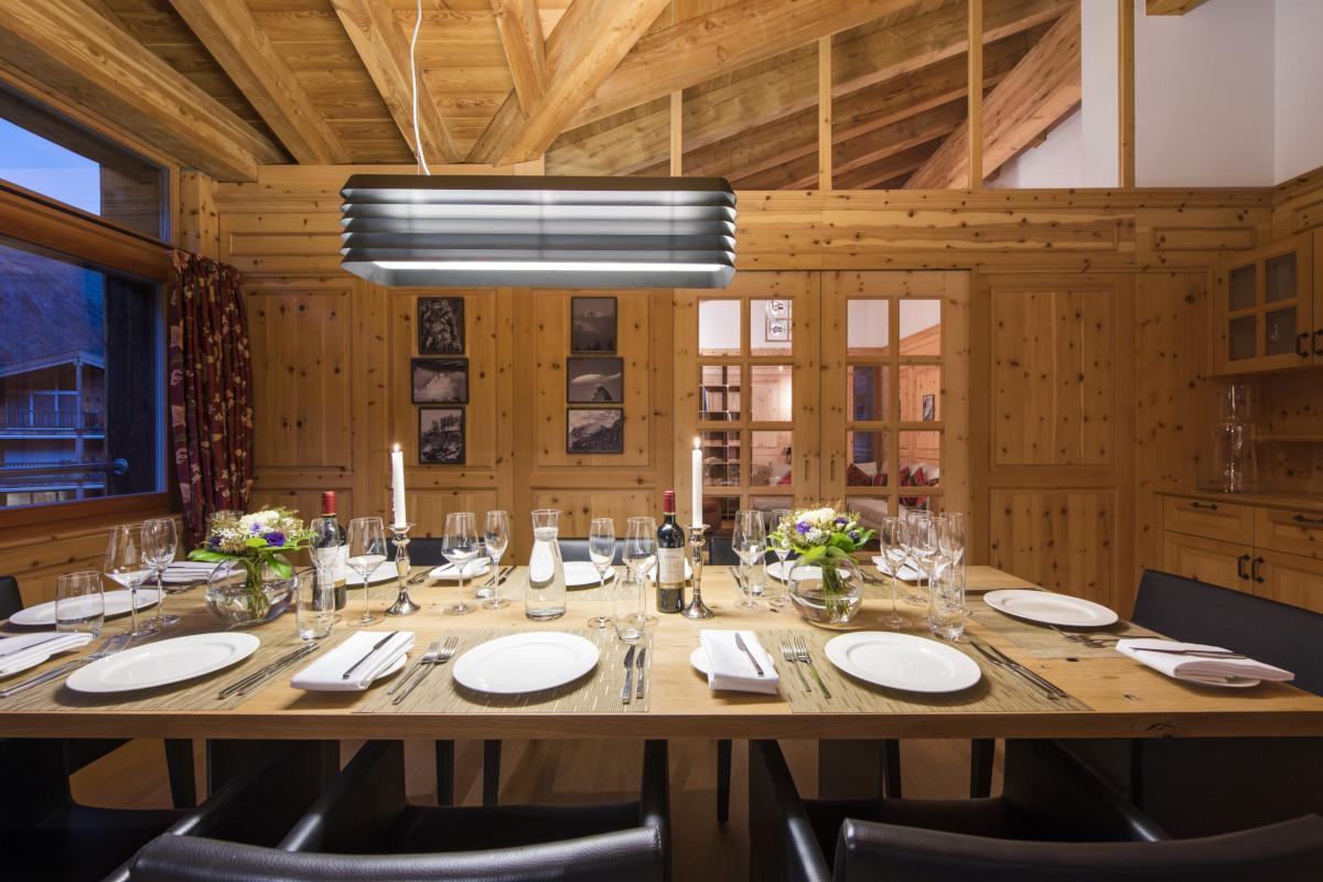Dining table at Apartment Alex in Zermatt