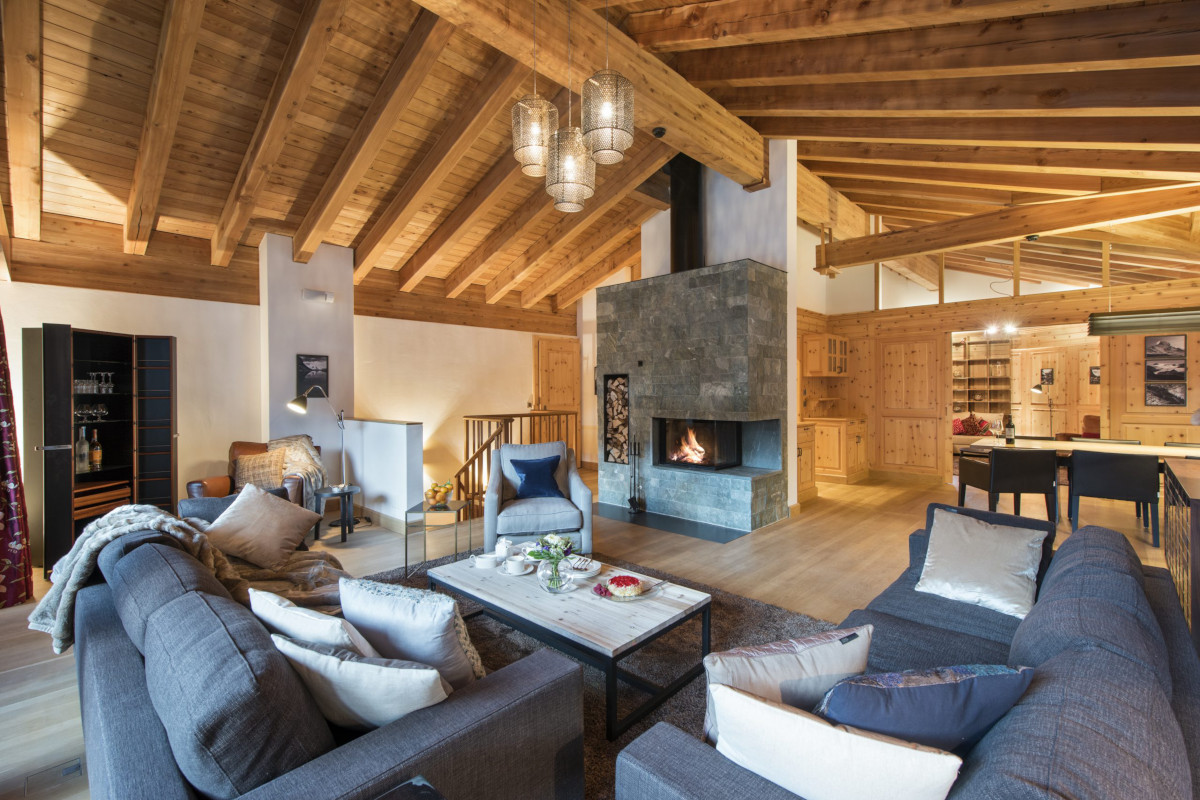 Lounge and living room at Apartment Alex in Zermatt