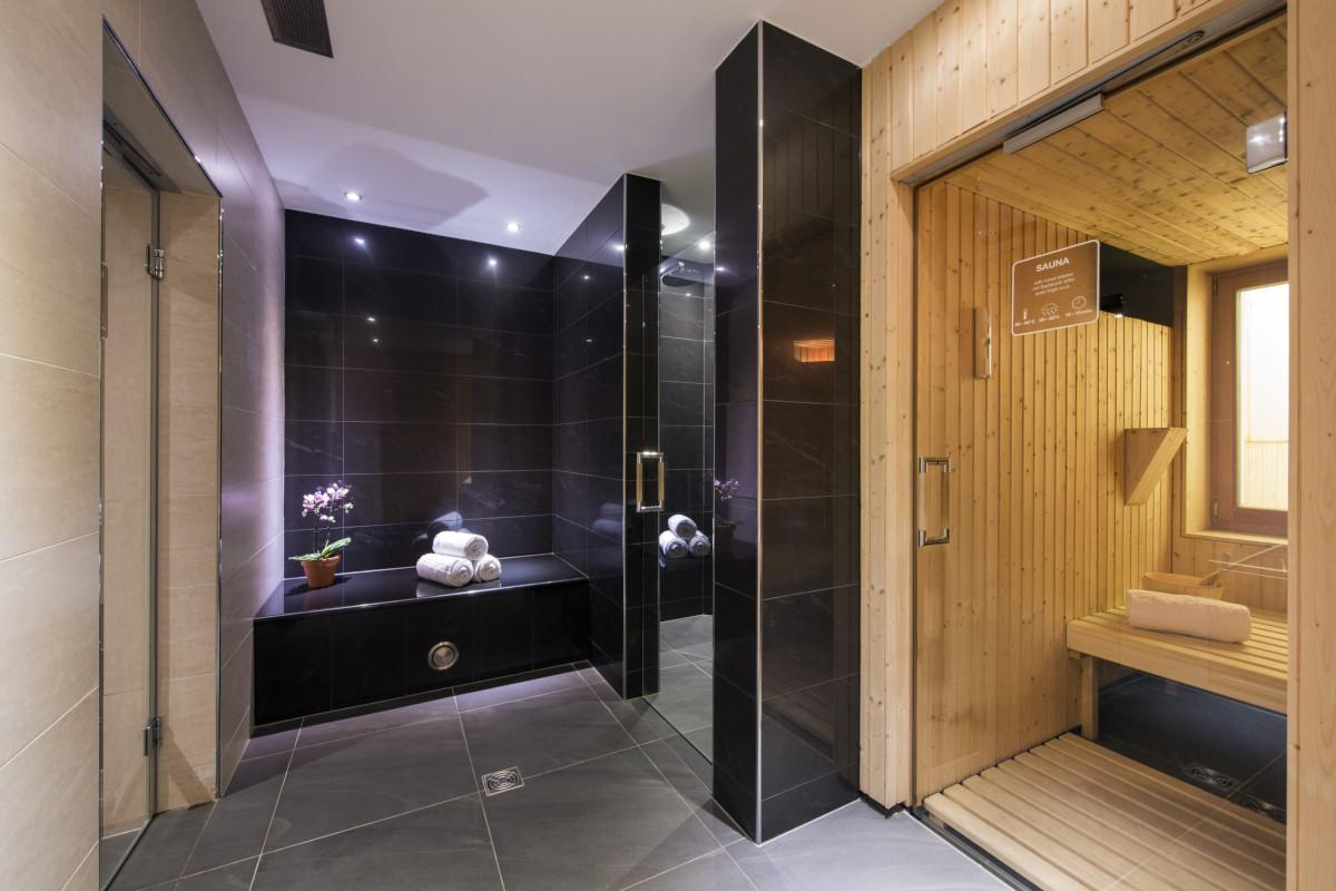 Sauna in the spa at Apartment Alex in Zermatt