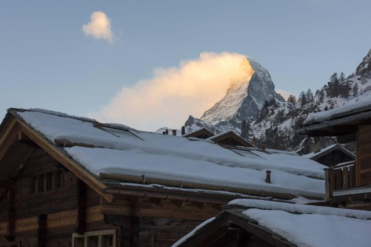 Matterhorn views from Christiania Apartment 7 in Zermatt