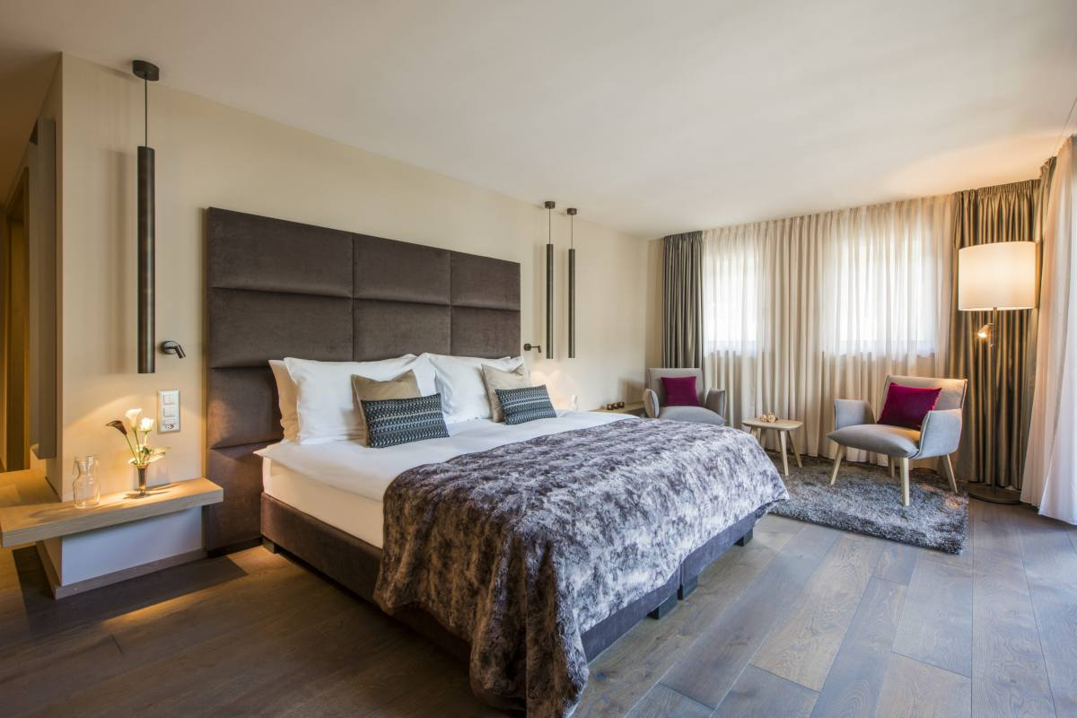 Double/twin bedroom at Christiania Penthouse in Zermatt