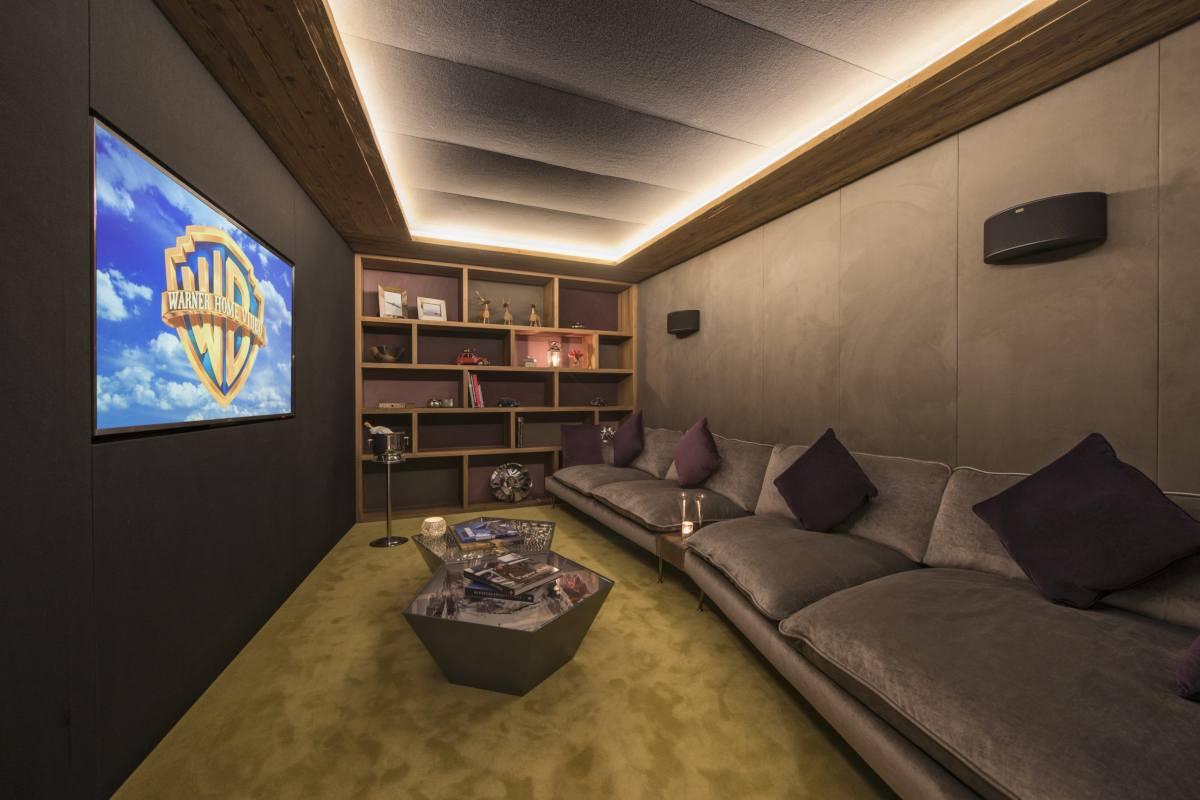 Cinema room at Chalet Elbrus in Zermatt