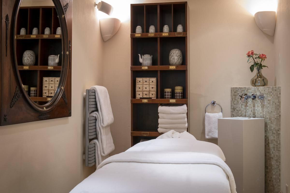 Massage room at Chalet Grace in Zermatt