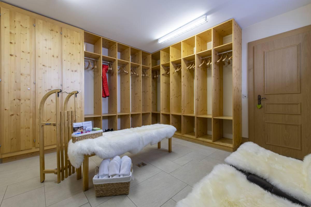 Ski room at Chalet Grace in Zermatt