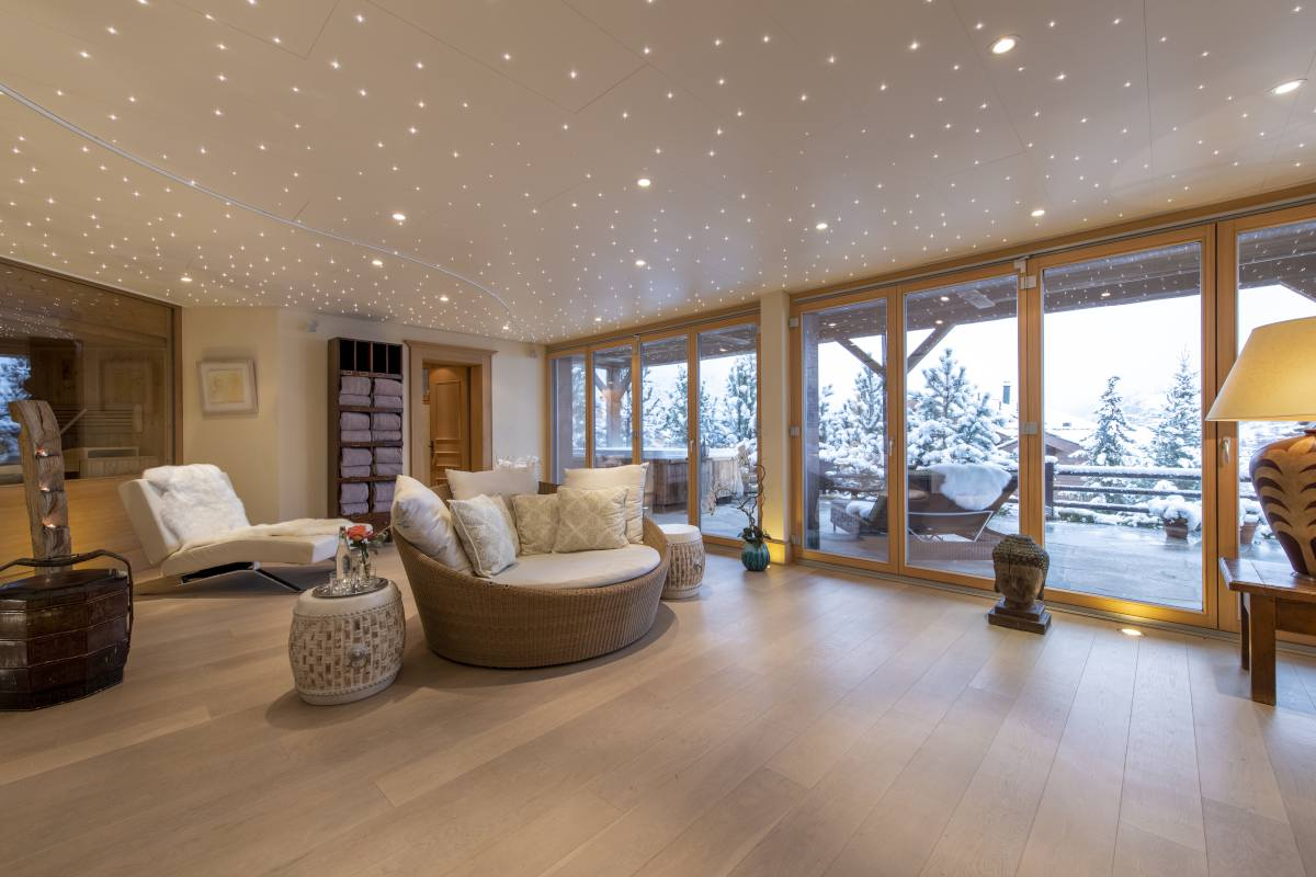Yoga, Pilates and relaxation area at Chalet Grace in Zermatt