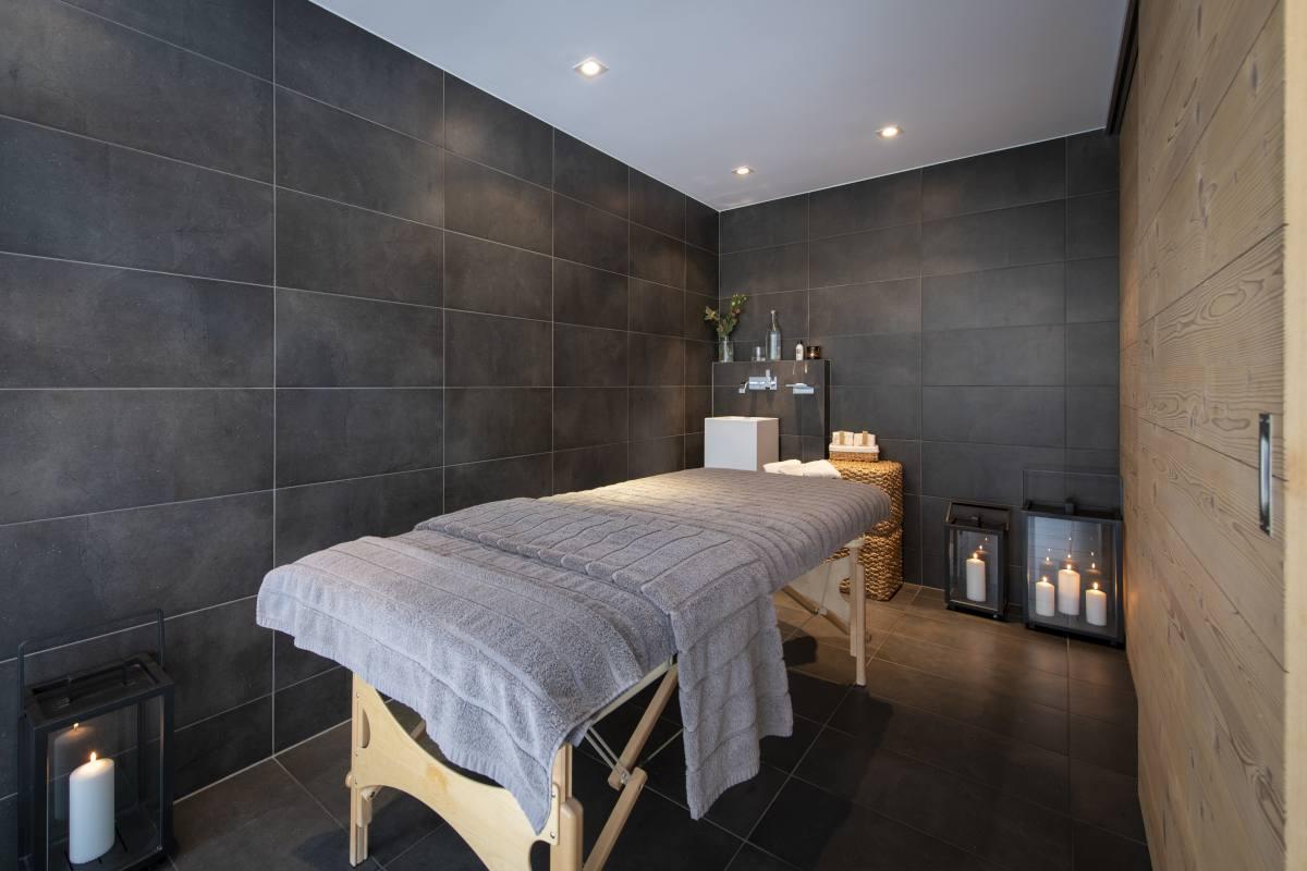 Massage room at Chalet Maurice in Zermatt