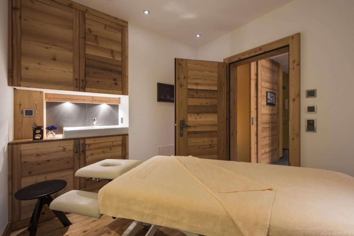 Massage room in the spa at Chalet Shalimar in Zermatt