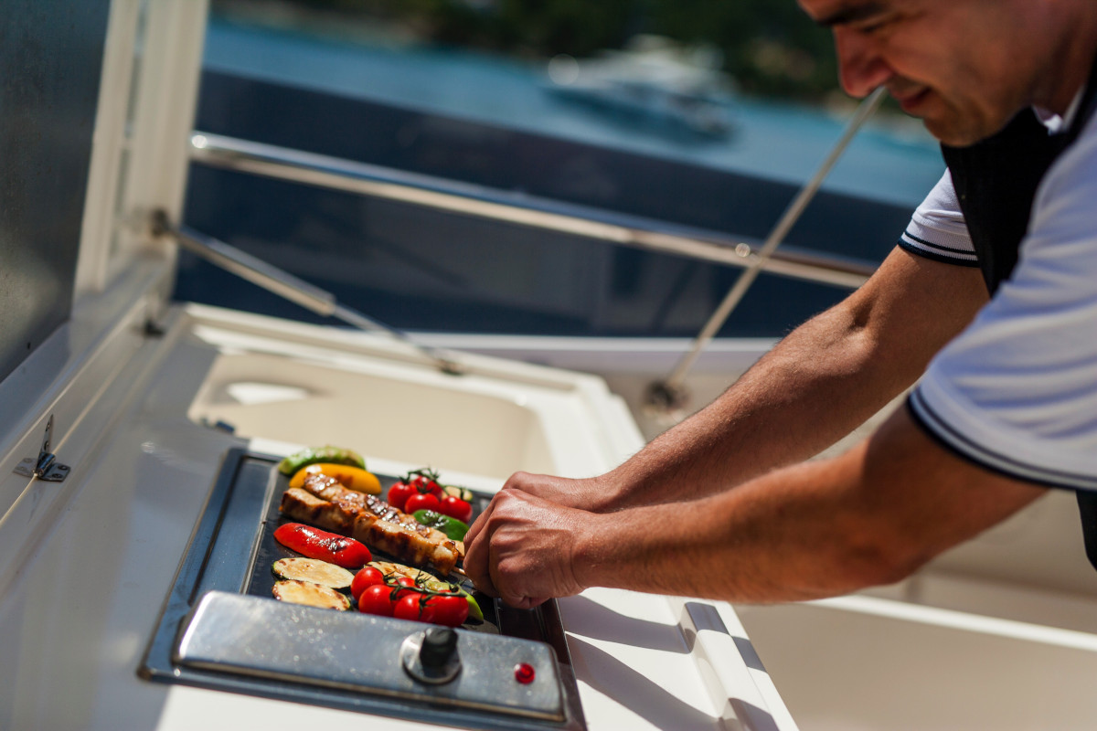 BBQ cooked by chef in Croatia on M/Y Orlando