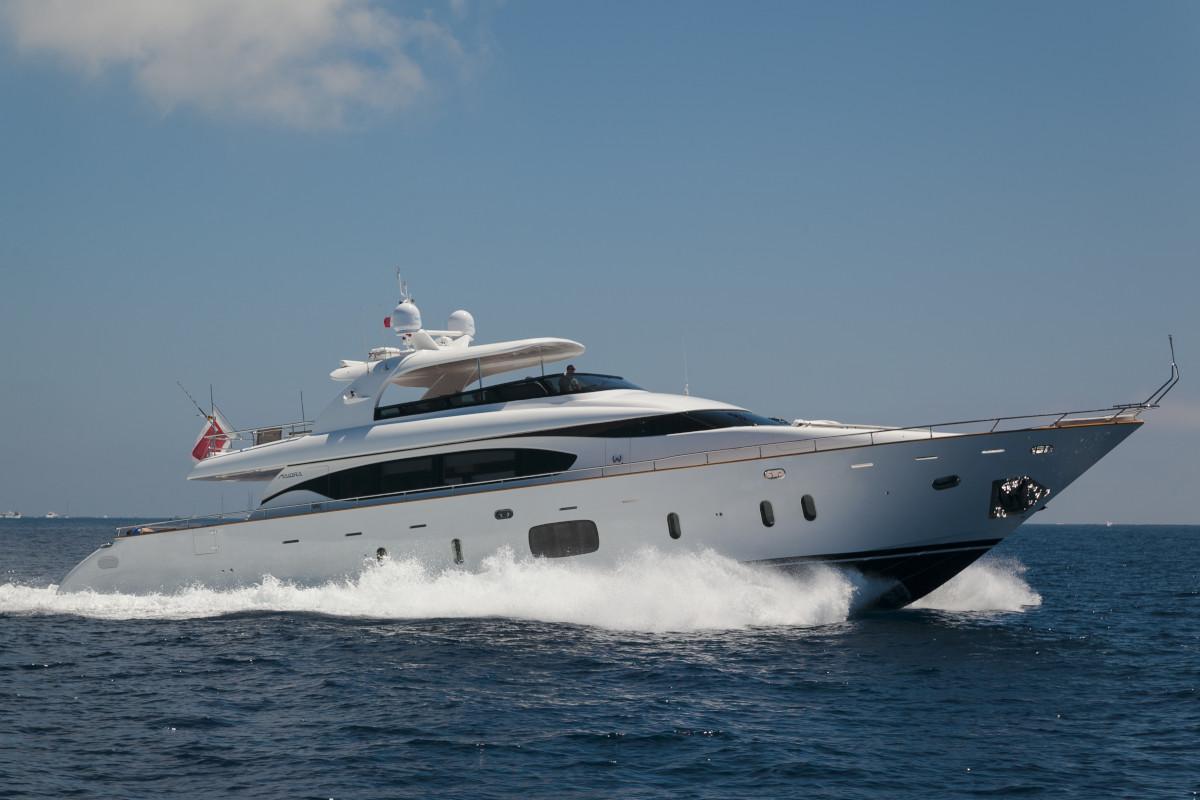 M/Y Olga I underway in the Mediterranean