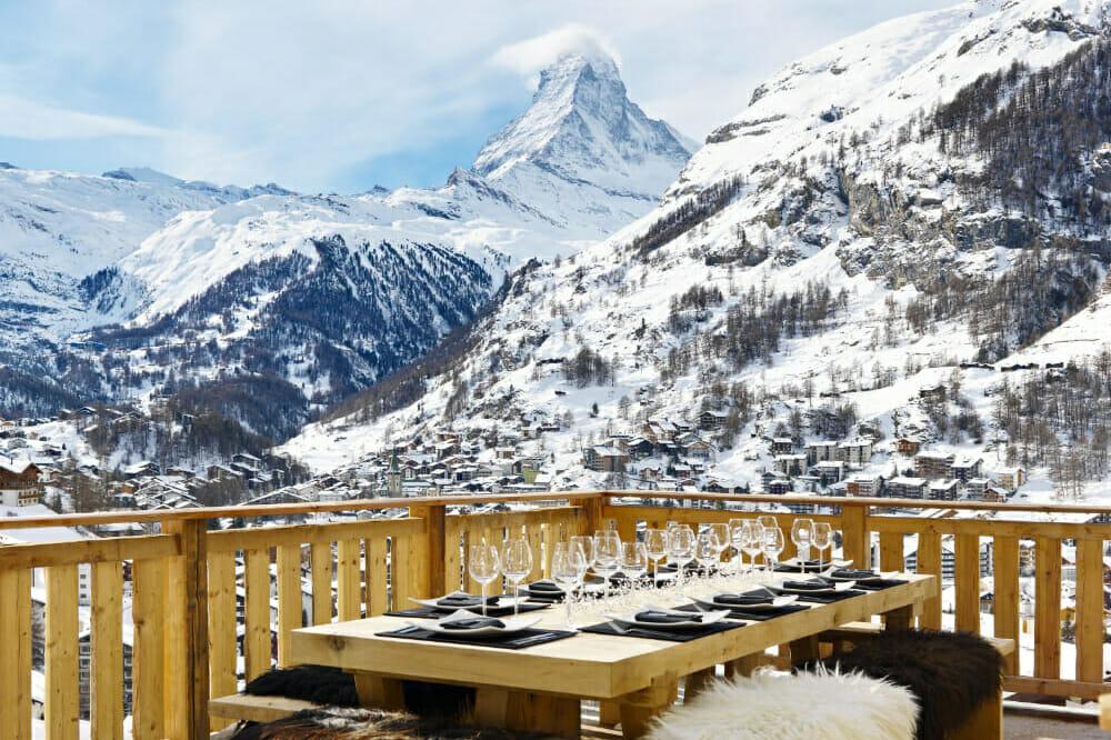 The view from chalet Les Anges of the Matterhorm, Zermatt