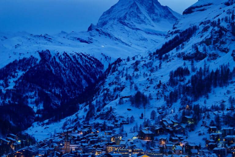 View from Chalet Les Anges of the Matterhorn, Zermatt