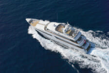 yacht at cruise speed