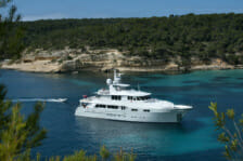 Motor Yacht Christina G cruising the Mediterranean