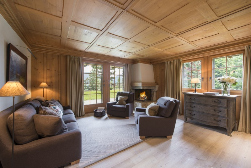 Lounge room Chalet Ivouette, Verbier