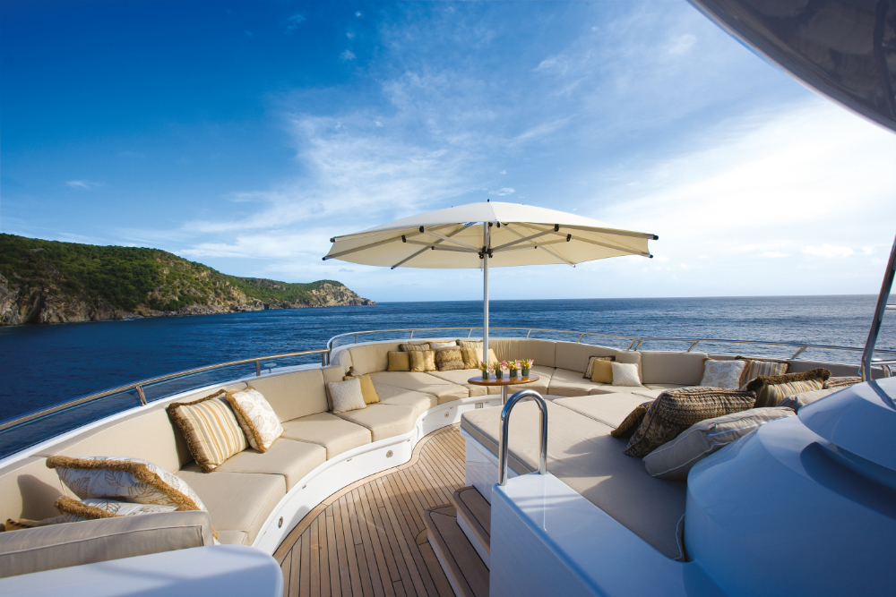 Motor Yacht Utopia- outdoor relaxation spaces- Mediterranean